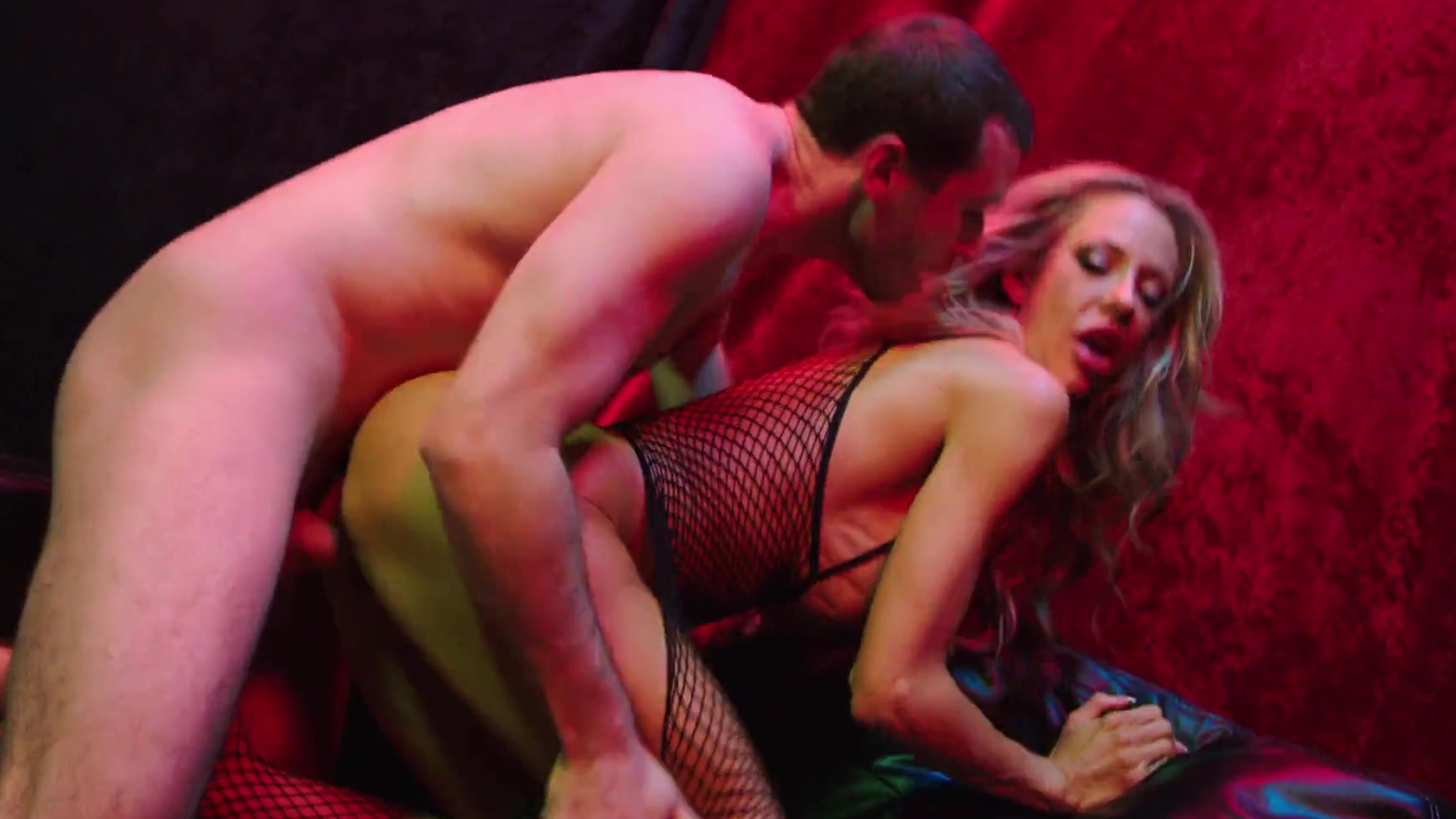 Drilled missionary fishnet spank