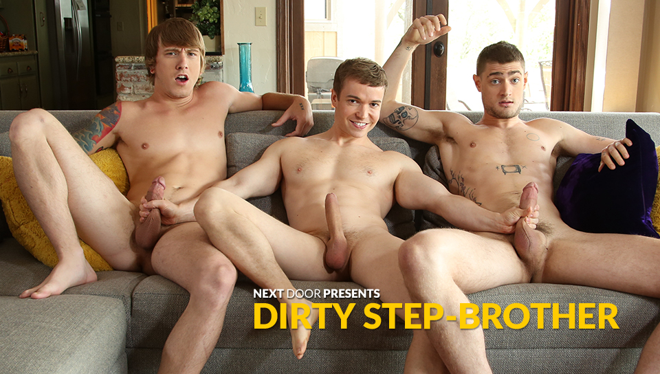 brunette Party gay stepbrother
