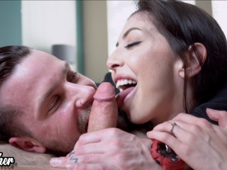 Pics and galleries Gloryhole sucking dick pigtails horny