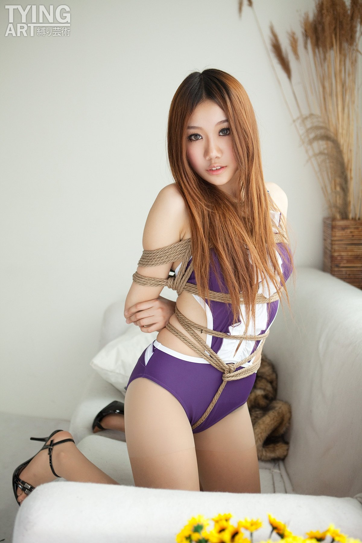 woman Otngagged bondage asian