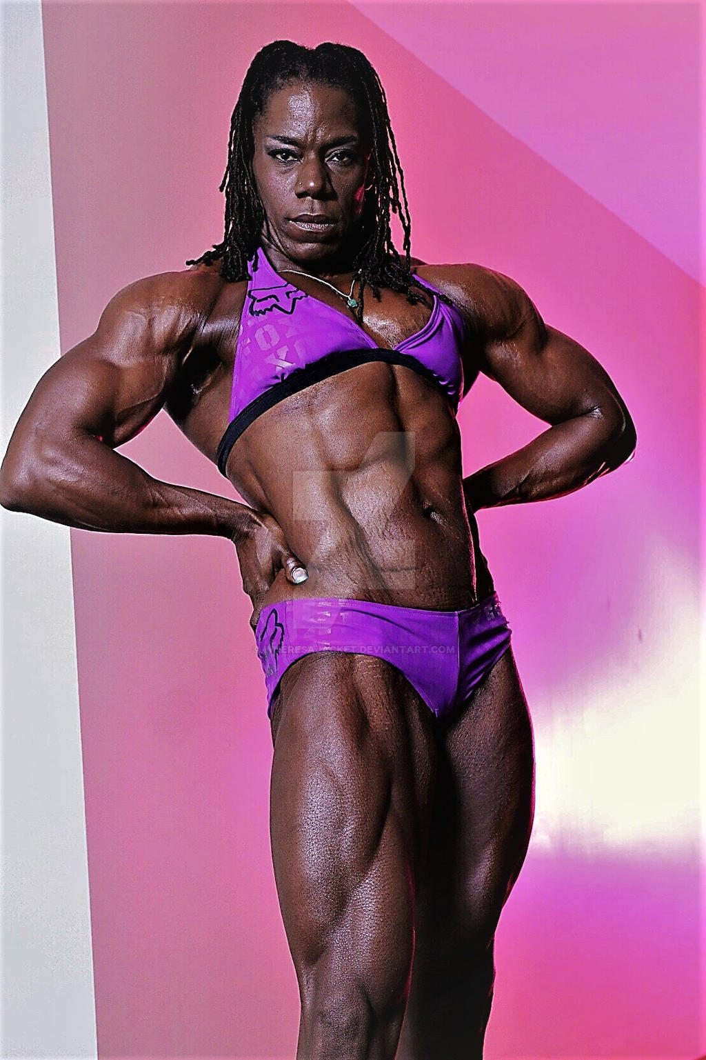 freckles ebony Muscle shared