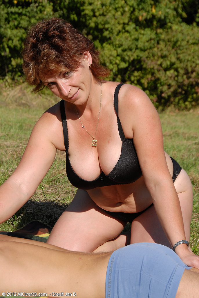 Outdoor bbc woman chubby