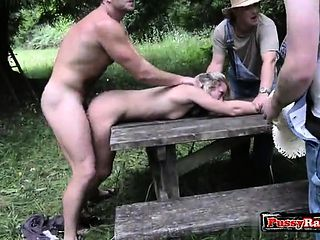 Bdsm cum virgin outdoor