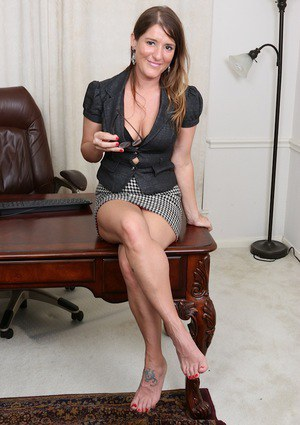 brunette office Group taboo