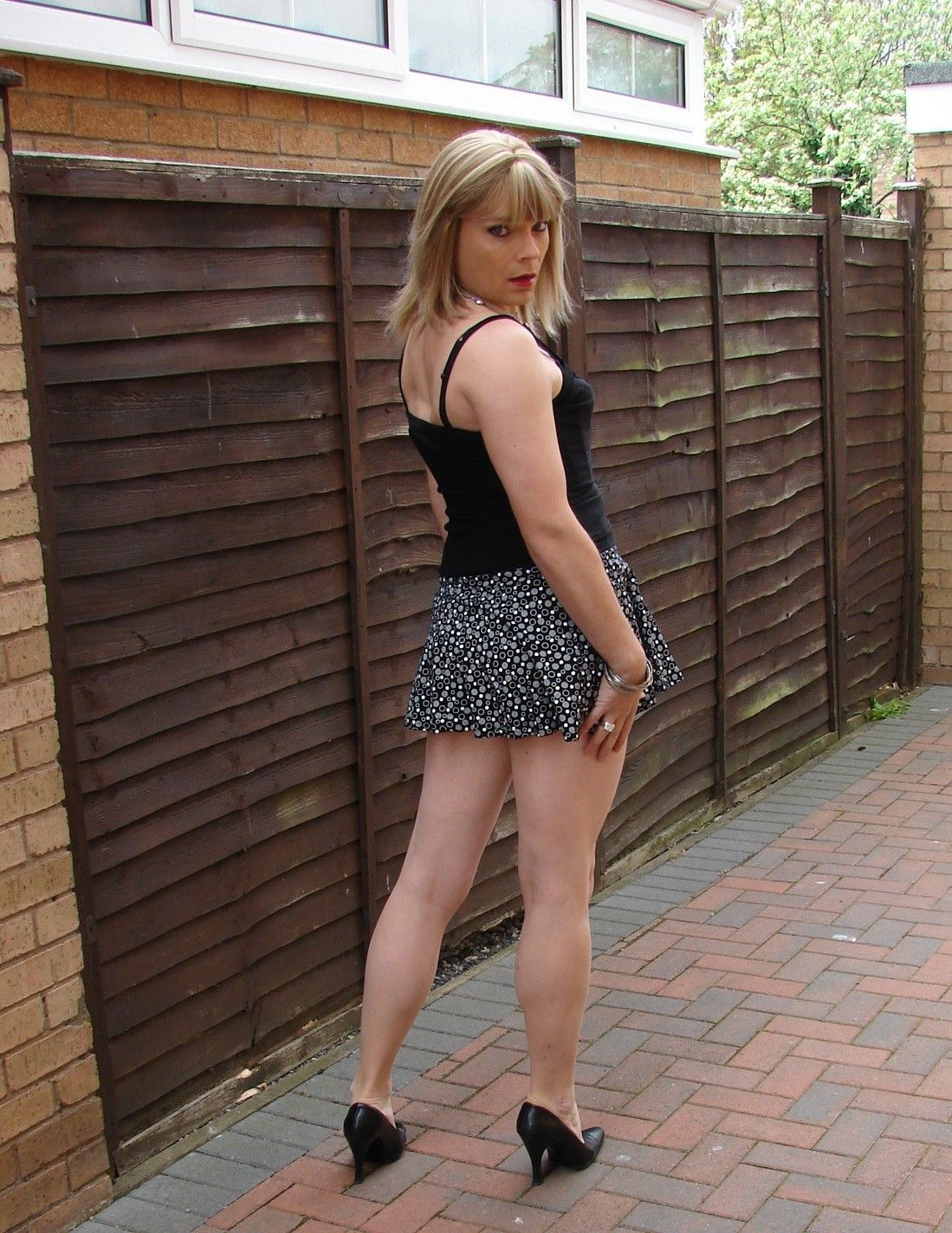 asian Crossdresser outdoor uncut