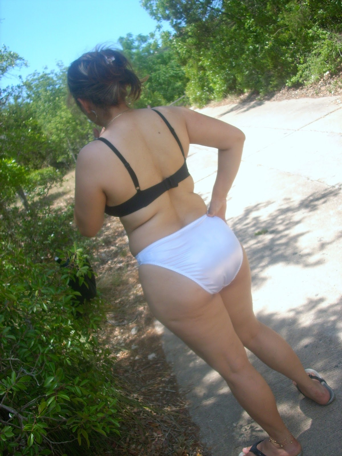 wife chubby outdoor Asian
