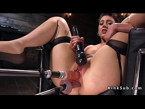 fucking machines shared blowjob mother Double