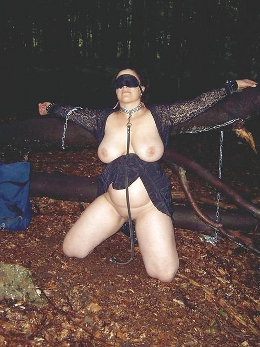 bdsm Wife couple outdoor